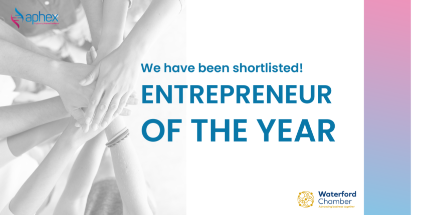 aphex shortlisted in the waterford business awards 2020 for entrepreneur of the year